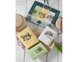 Набор вафельных полотенец Meteor Olive series, 3 шт.