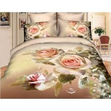 Комплект Розы 2,0 спальный с евро простыней