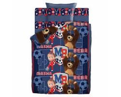 Комплект Маша и Медведь, Команда  1,5 спальный