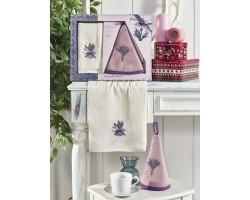 Набор вафельных полотенец Лаванда 2 шт