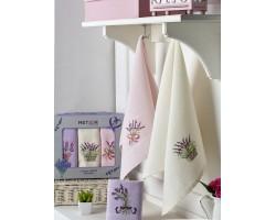 Набор вафельных полотенец Лаванда 3 шт