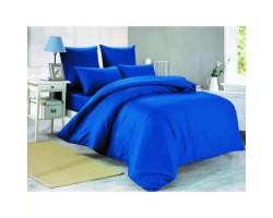 Комплект Синий 2,0 спальный с евро простыней