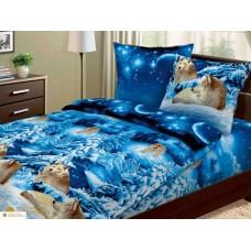 Комплект Волки 2,0 спальный с евро простыней