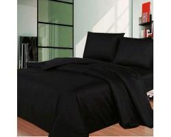 Комплект Черный 2,0 спальный с евро простыней
