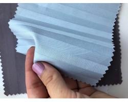 Ткань страйп-сатин Голубой