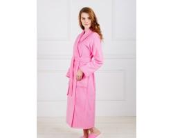 Халат женский шаль розовый