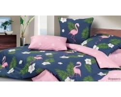 Комплект Фламинго  2,0 спальный с евро простыней