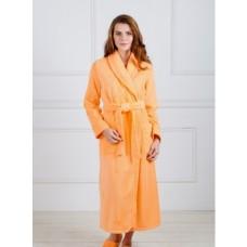 Халат женский шаль персик
