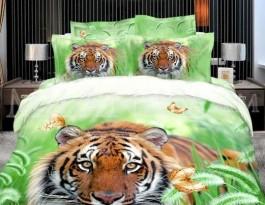 Комплект Milanika Тигр 2 спальный с евро простыней