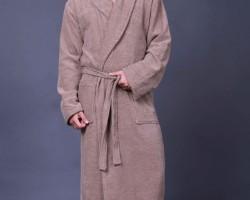 Халат мужской шаль коричневый