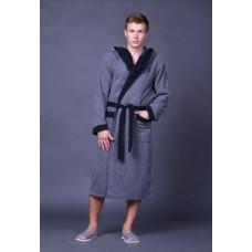 Халат мужской спорт серый