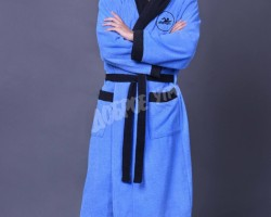 Халат мужской спорт синий