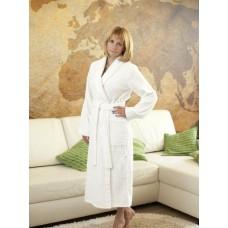 Халат женский шаль белый