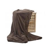 Плед Elegance коричневый 180x200