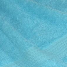Полотенце махровое ярко-голубое