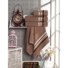 Полотенце махровое Вивьен коричневое